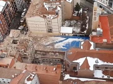 Imagen aérea del patio del colegio La Salle La Paloma, en Madrid