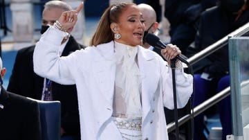 Jennifer Lopez durante su actuación en la toma de posesión de Joe Biden como el 46 presidente de los Estados Unidos en el frente oeste del Capitolio de los Estados Unidos en Washington