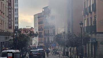 Imagen de la calle Toledo de Madrid tras la explosión en uno de los edificios