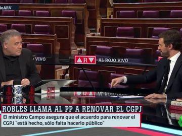 """Casado pide a Sánchez que el CGPJ se renueve con """"un acuerdo entre PP y PSOE"""" porque """"jamás se han sumado más partidos"""""""