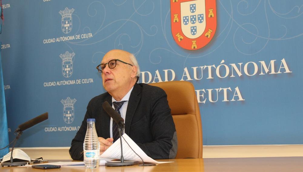 El consejero de Ceuta, Javier Guerrero (PP)