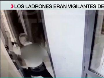 Tres vigilantes de seguridad se convierten en ladrones