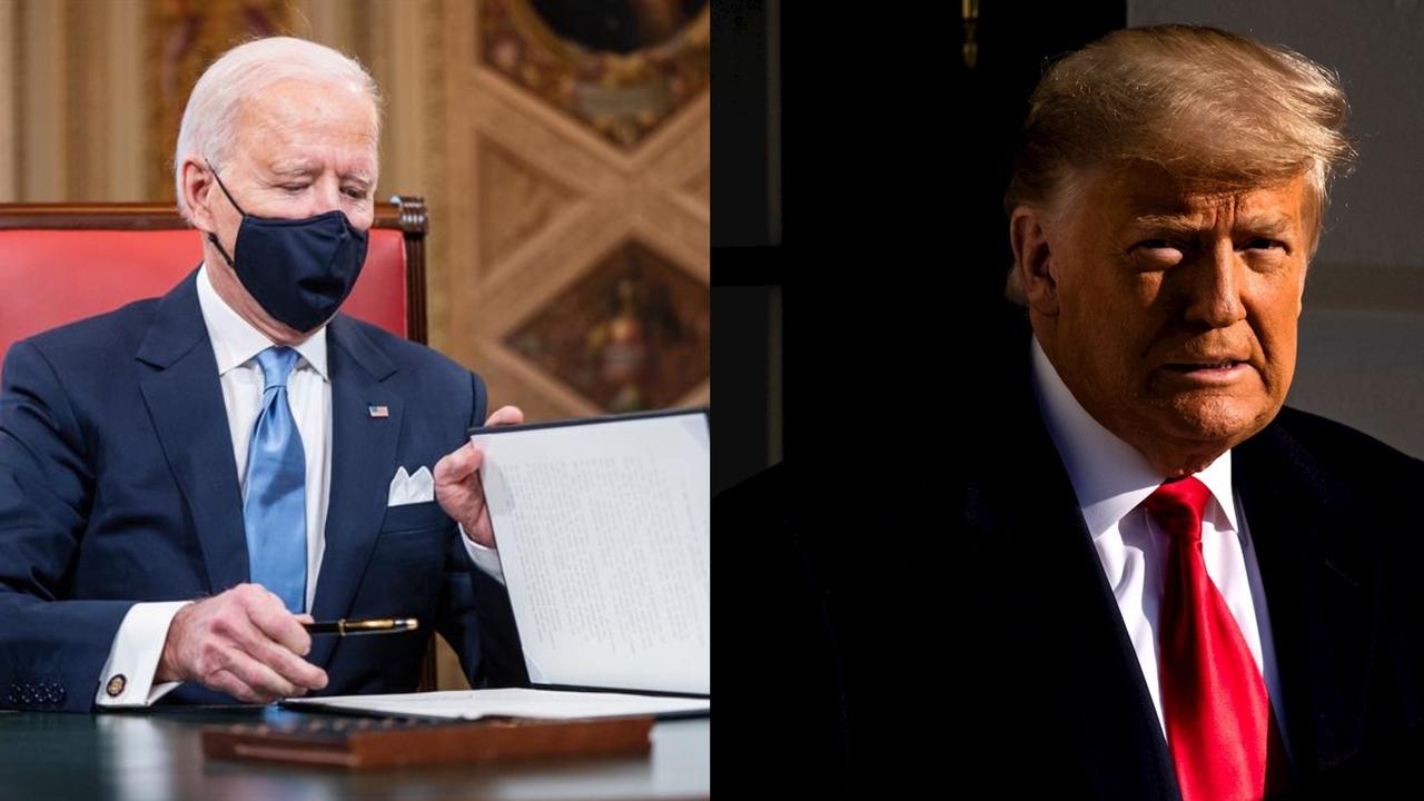 Joe Biden y el expresidente Donald Trump