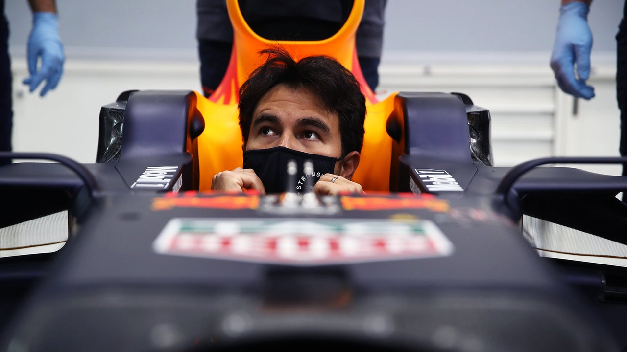 Sergio Pérez subido al Red Bull por primera vez