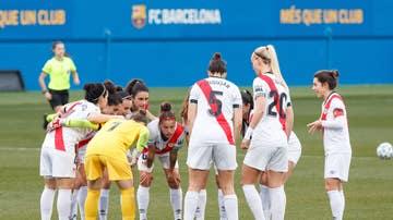 Jugadoras del Rayo femenino