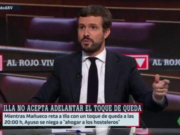 """Casado justifica las contradicciones de Ayuso y Mañueco por el confinamiento porque """"no es lo mismo Madrid que Castilla y León"""""""