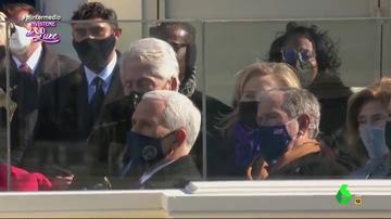 Lo que no se vio de la toma de posesión de Biden: sí, Bill Clinton estaba durmiéndose