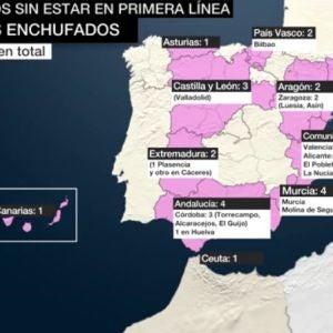Mapa de los políticos que se han vacunado sin cumplir requisitos