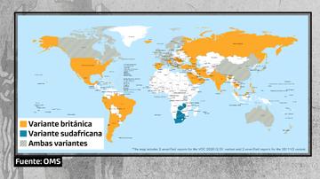El mapa de las nuevas cepas de coronavirus en el mundo