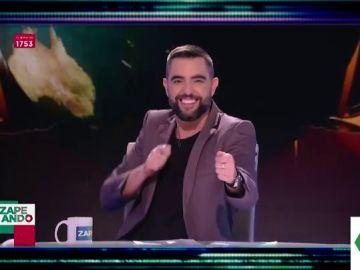 """El día que las redes pillaron a Dani Mateo repitiendo un chiste de un catalán en Zapeando: """"Sois muy idiotas"""""""