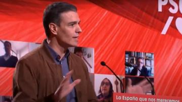 Pedro Sánchez, durante su intervención en el Comité Federal del PSOE