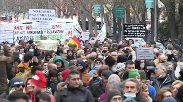 Imagen de la manifestación negacionista en Madrid