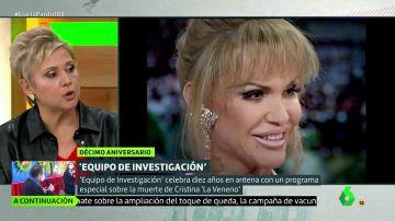 """Gloria Serra desvela que 'Equipo de Investigación' tiene una prueba contundente que """"podría reabrir el caso"""" de la muerte de La Veneno"""