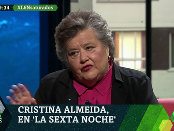 "Cristina Almeida: ""Yo aspiro a la república, pero no voy a salir a tiros ni a matar al rey para tenerla"""