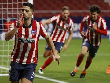 Luis Suárez, Marcos Llorente y Joao Félix