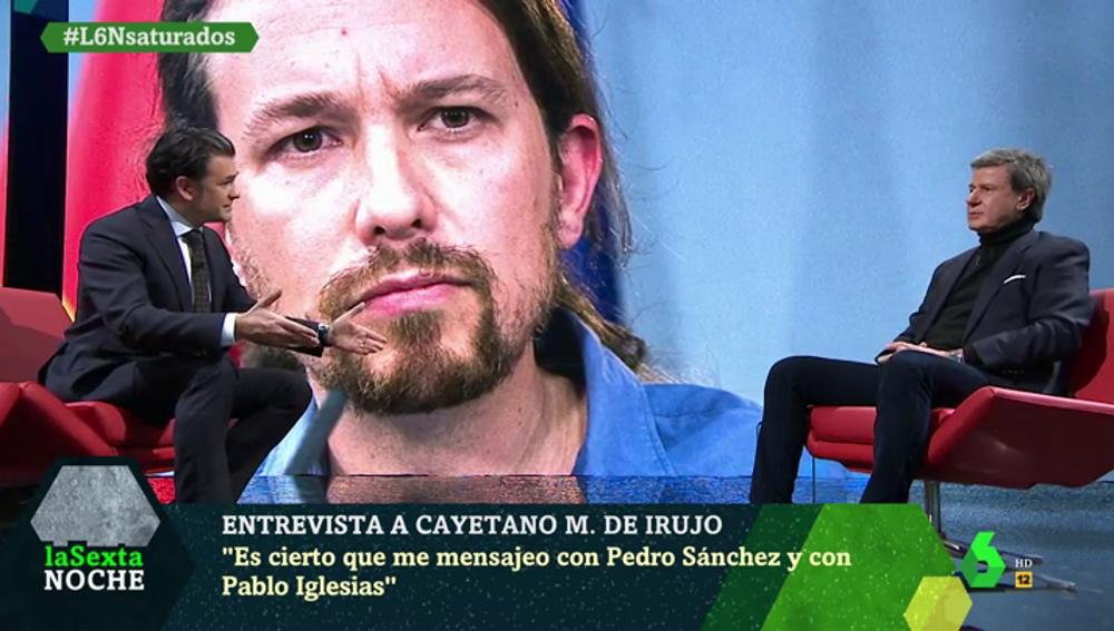 """Martínez de Irujo confiesa que se manda mensajes con Sánchez e Iglesias: """"Tengo confianza en el presidente"""""""