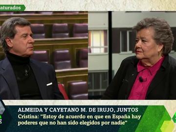 De Pablo Iglesias al Pazo de Meirás: Cristina Almeida y Cayetano Martínez de Irujo debaten cara a cara en laSexta Noche
