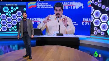 """Dani Mateo defiende las """"gotitas milagrosas"""" de Maduro contra el COVID: """"Si Guaidó se autoproclama presidente, él autoproclama una medicina efectiva"""""""