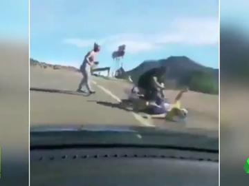 Brutal agresión a un ciclista en Gran Canaria