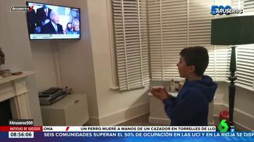 Entre aplausos y gritos de alegría: así reaccionaron los niños a la investidura de Joe Biden en EEUU