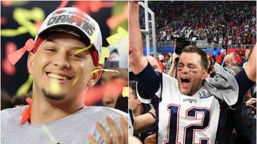 Patrick Mahomes y Tom Brady