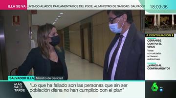 El ministro, junto a Andrea Ropero