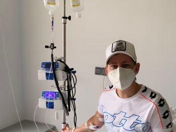 Carla Suárez en su última sesión de quimio