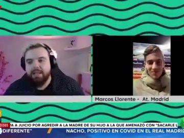 """Ibai Llanos 'estalla' contra el futbolista Marcos Llorente: """"Me estás tocando ya un poco los cojones"""""""