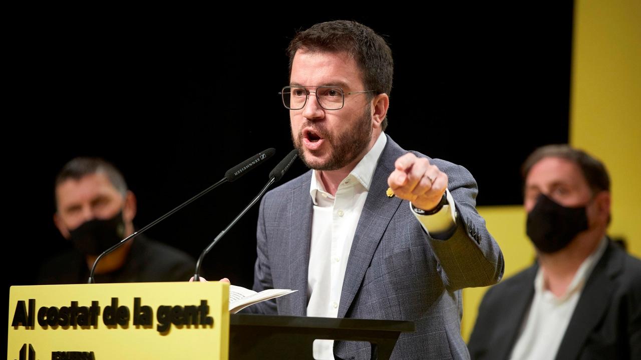 El candidato de ERC a la presidencia de la Generalitat, Pere Aragonés