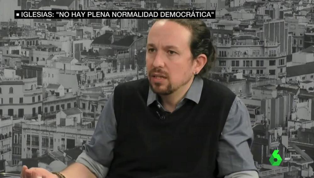 """Iglesias, ante la polémica por los presos del procés: """"No hay una situación de plena normalidad política y democrática en España"""""""