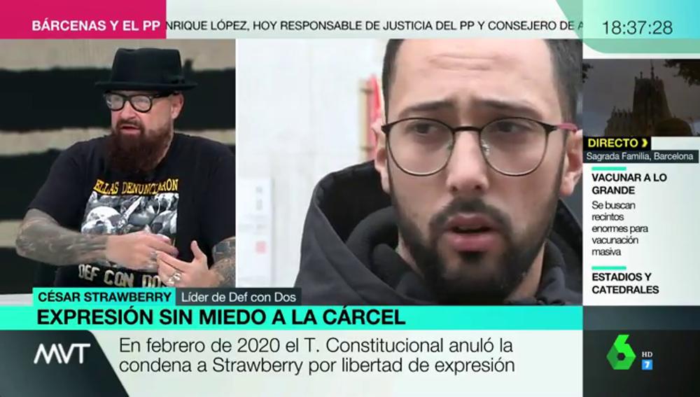 """César Strawberry destapa los """"traumáticos"""" años que ha sido juzgado por sus letras: """"Ves cómo tus hijos vuelven del colegio diciéndote 'en la tele dicen que eres un terrorista'"""""""