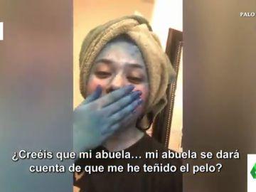 """El vídeo viral que muestra la """"torpeza"""" de una joven al teñirse el pelo: """"Ya puede ser figurante de Avatar"""""""