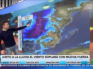 Importantes lluvias, fenómenos costeros y fuertes rachas de viento: la previsión del tiempo en España para hoy
