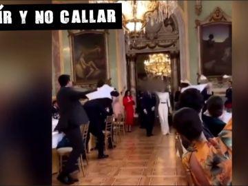 Imagen difundida en redes de la boda celebrada en el Casino de Madrid
