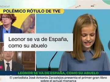 Polémica entre PP, Cs y UP por el rótulo de RTVE sobre la marcha de la princesa Leonor a Gales