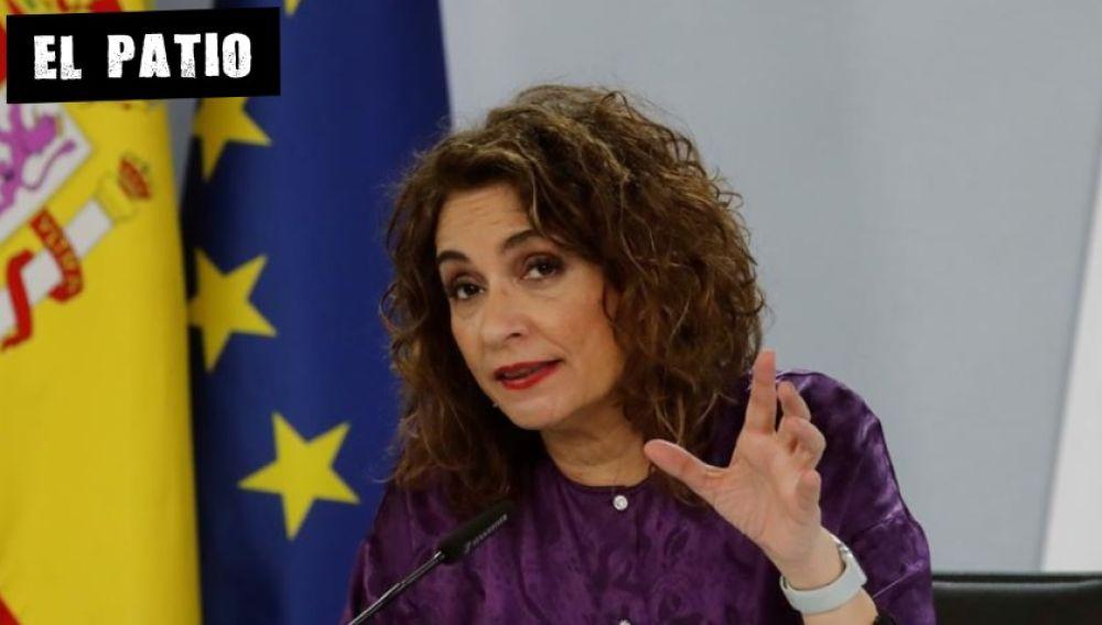 La ministra María Jesús Montero, en rueda de prensa