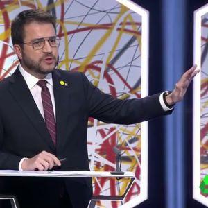 """Vox acusa a Pere Aragonès de """"lanzar piedras"""" en sus mítines y el 'republicano' responde: """"Usted quiere verme en la cárcel"""""""