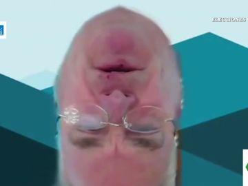 La surrealista aparición de un miembro de la Cámara de Representantes de EEUU boca abajo y sin cuerpo en una videollamada