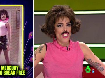 """La dificultad de Lorena Castell para cantar al estilo Freddie Mercury: """"Los piños son muy muy grandes"""""""