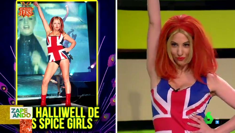 """La espectacular transformación de Maya Pixelskaya en una de las Spice Girls: """"Me han pintado el entreteto para que parezca que tengo más"""""""