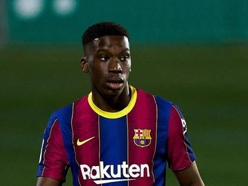 Ialix Moriba, con el Barça