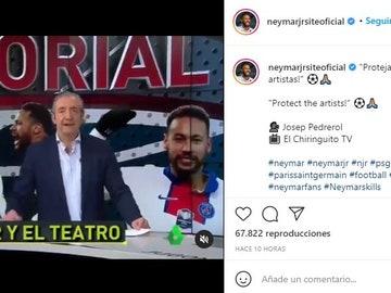 Neymar comparte el Editorial de Josep Pedrerol