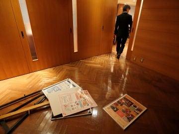 Parte de los desperfectos provocados por el terremoto en Iwaki (Japón)