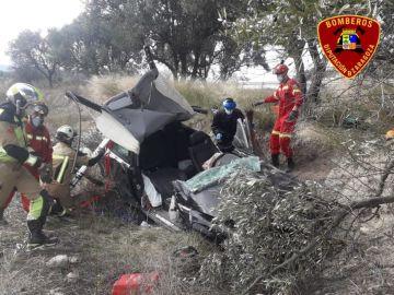 Un hombre muere en un accidente de tráfico y su hijo resulta herido en Borja