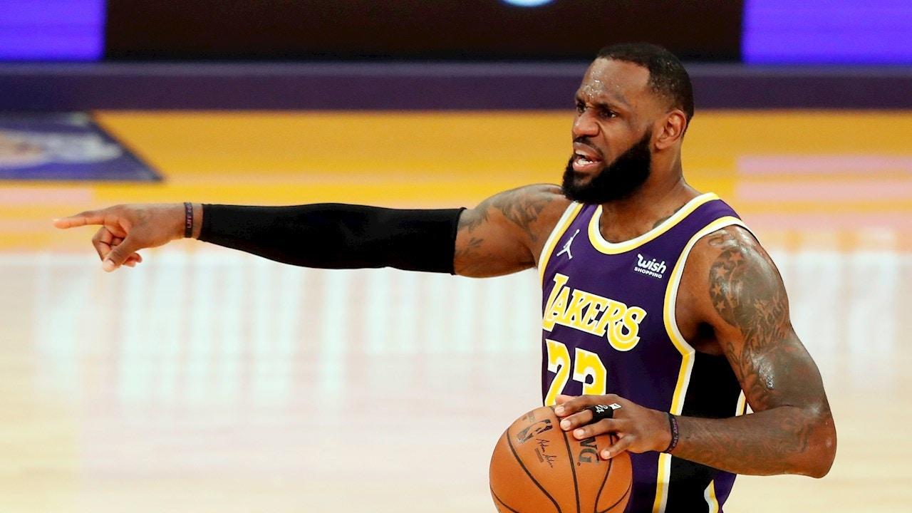 LeBron James, con los Lakers