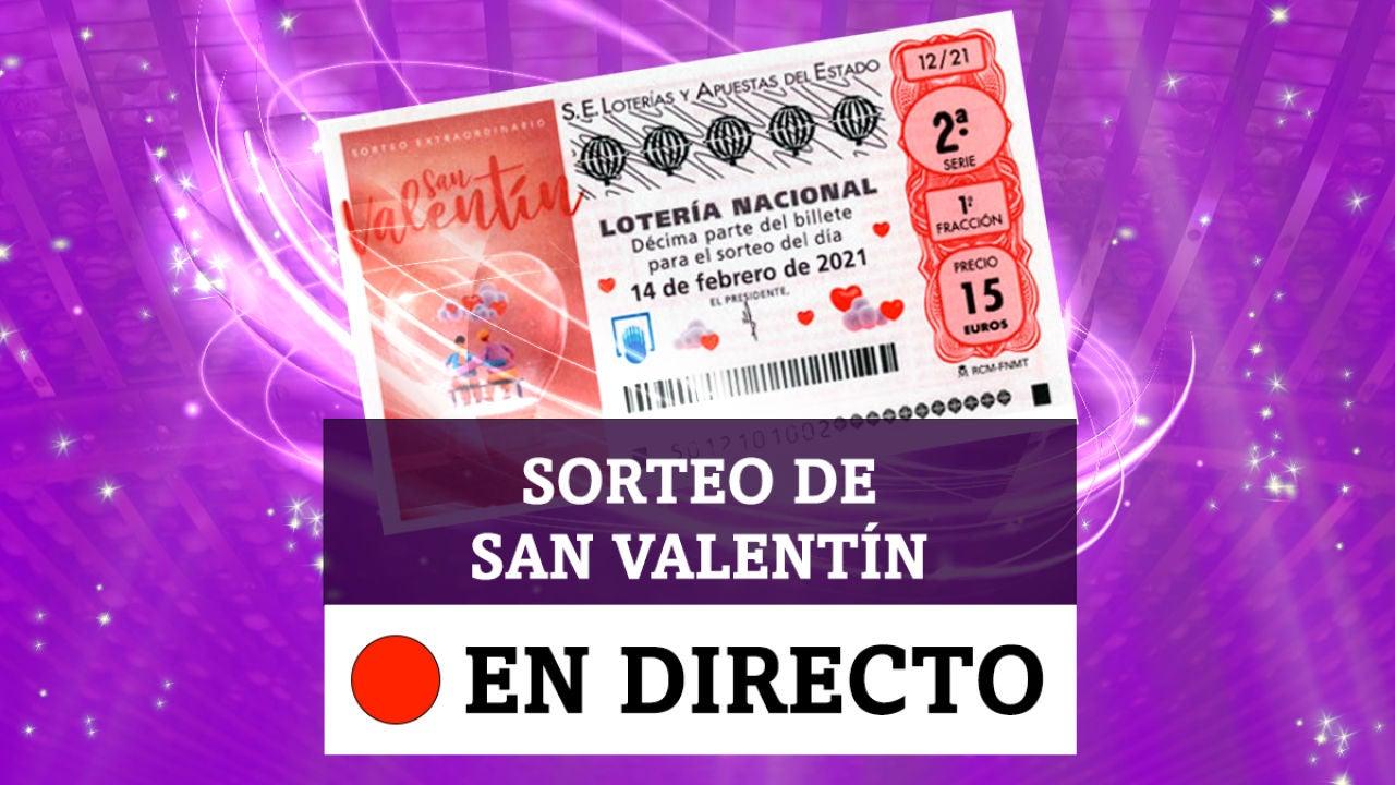 Comprobar Lotería Nacional De Hoy Domingo 14 De Febrero Sorteo Extraordinario De San Valentín En Directo
