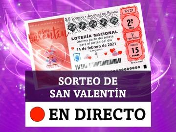 Comprobar Lotería Nacional de hoy domingo 14 de febrero, Sorteo Extraordinario de San Valentín, en directo