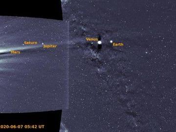 Los seis planetas captados en la misma imagen
