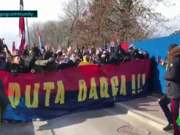 pancarta ultras PSG