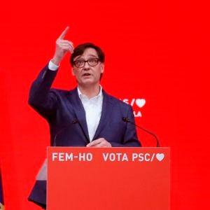 Salvador Illa, ganador de las elecciones en Cataluña con el PSC
